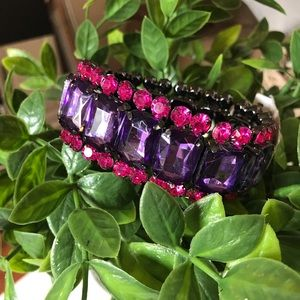 NWT Pink and purple bejeweled bracelet ✨